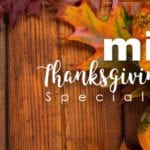 Mixto Thanksgiving Menu